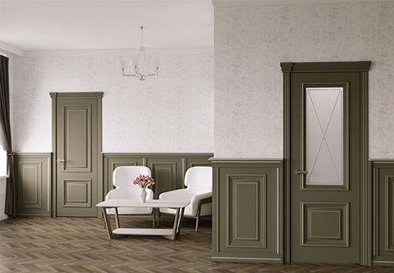 Стеновая панель декоративная c багетом
